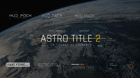 Astro Title 2 Motion Graphics Template