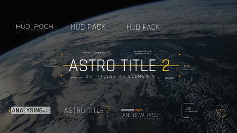 Astro Title 2 モーショングラフィックステンプレート