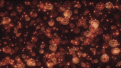 Halloween Pumpkins Background Animation