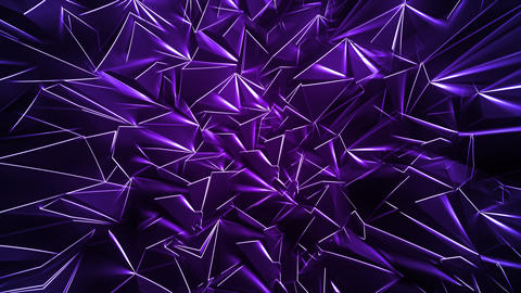 Purple Polygonal Background with Glowing Edges Animation