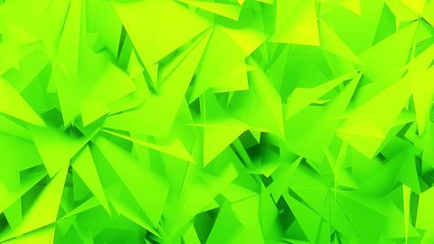 Green Geometric 3D Polygons Animation