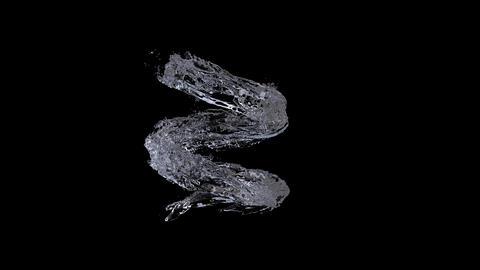 Water splash spiral alpha 4k Videos animados