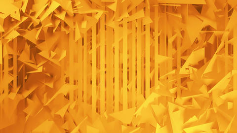 Polygons and Lines Orange Geometric Abstract Background Animation