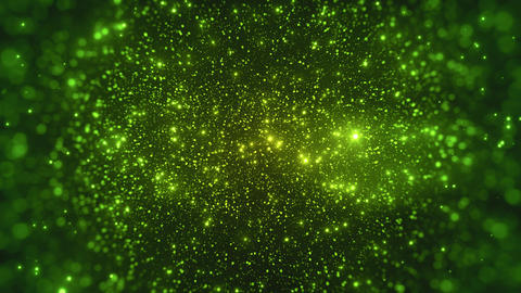 Glitter Green Particles Abstract Background CG動画