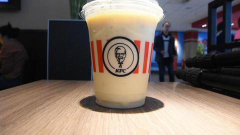 Ginger Bread Crunch Milkshake AT KFC Restaurant The Hague Netherlands 2019 Live Action