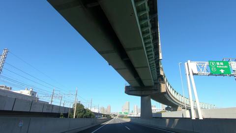Japanese national highway image and grade separation Acción en vivo