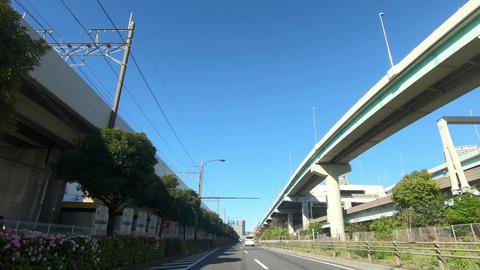 Driving video on a sunny day. Japanese National Route 357 Acción en vivo
