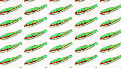 Donzella fish pattern Animation