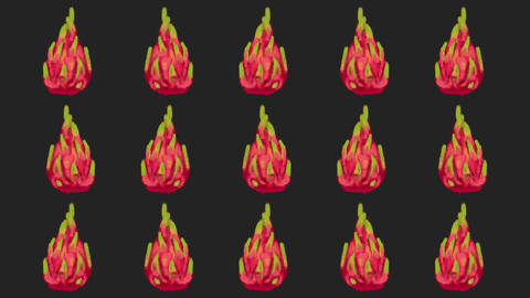 dragon fruit pattern Animation