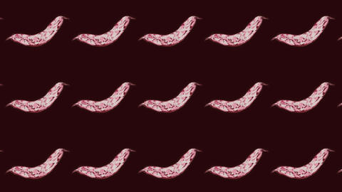 animated Cranberry bean pattern, ideal footage for themes such as cooking and vegeterian recipes Videos animados