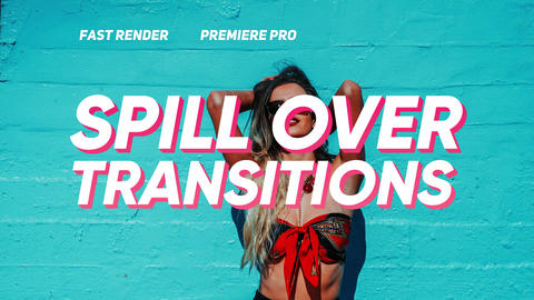 Spill Over Transitions Plantillas de Premiere Pro