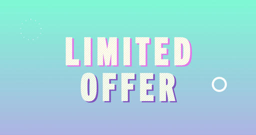Limited offer Logotype. Smooth Text Animation Animation