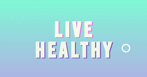 Live Healthy Logotype. Smooth Text Animation Animation