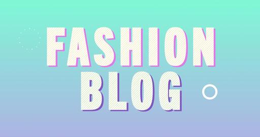Fashion Blog Logotype. Smooth Text Animation Animation