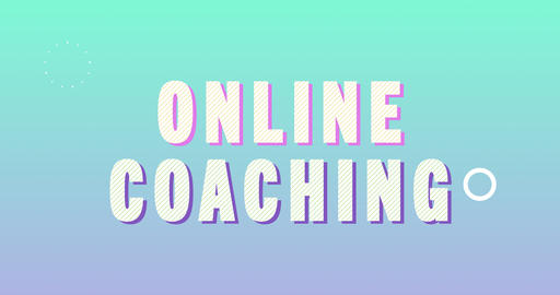 Online Coaching Logotype. Smooth Text Animation Animation