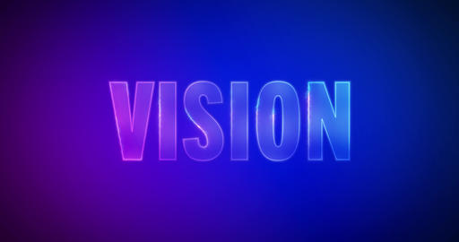 Vision. Electric lightning words. Logotype Animation
