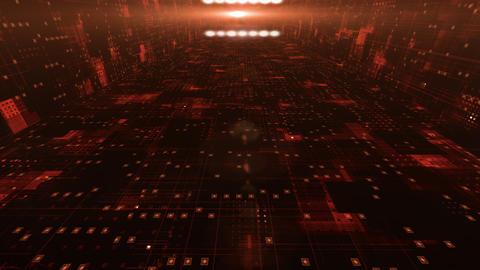 Corridor 4kSci-fi Futuristic Space Corridor. Seamless Looped Space Animation