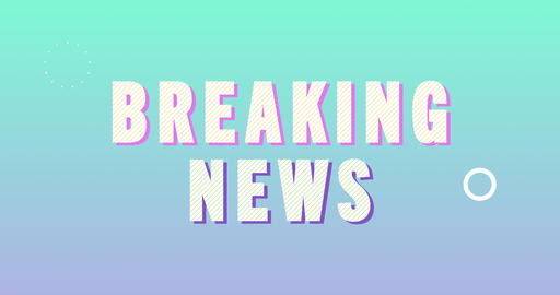 Breaking News Logotype. Smooth Text Animation Animation