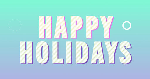 Happy Holidays Logotype. Smooth Text Animation Animation