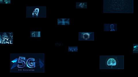 Digital Network Technology AI 5G data communication concepts background E Move C Sozai CG動画
