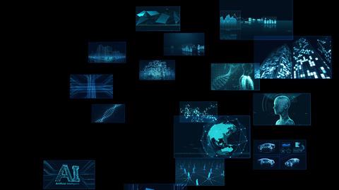 Digital Network Technology AI 5G data communication concepts background E Rotate B Sozai Animation