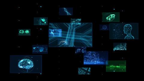 Digital Network Technology AI 5G data communication concepts background E Rotate C Color CG動画