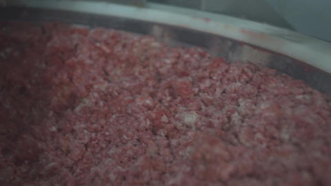 minced meat machine factory raw equipment industry sausage factory meat Live Action