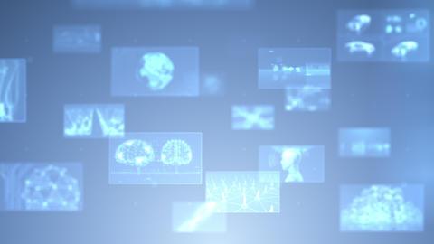 Digital Network Technology AI 5G data communication concepts background E Move A Gray DOF CG動画