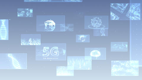 Digital Network Technology AI 5G data communication concepts background E Move A Gray Animation