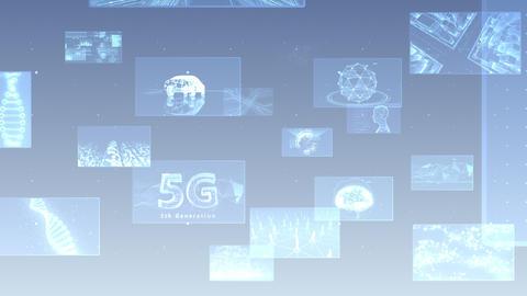Digital Network Technology AI 5G data communication concepts background E Move A Gray Videos animados