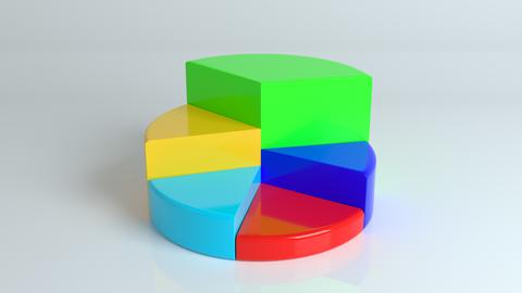 Isometric cycle diagram for infographics. 3D Pie chart フォト
