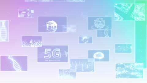 Digital Network Technology AI 5G data communication concepts background E Move A Gray2 Animation