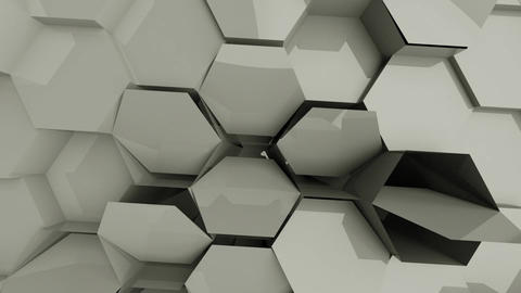 Geometric shapes change the shape of the dynamic graphics cycle Live Action