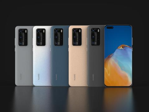 Huawei P40 Pro In Official Colors 3D Model