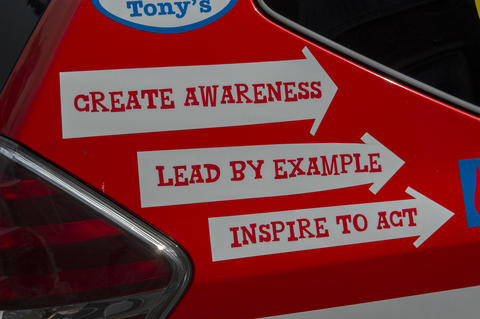 Advertisement On A Tony's Chocolonely Company Car At Amsterdam The Netherlands 20-6-2020 Fotografía