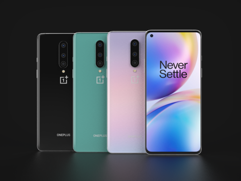 OnePlus 8 In Official Colors 3D Model