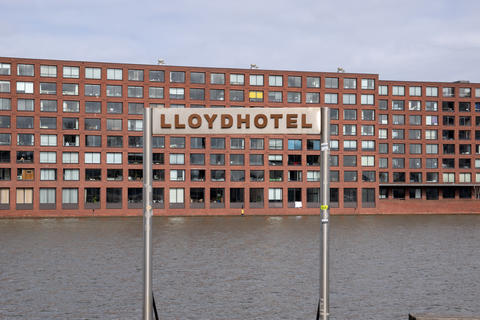 Billboard Lloydhotel Mooring Place At The Veemkade Amsterdam The Netherlands 3 April 2020 フォト