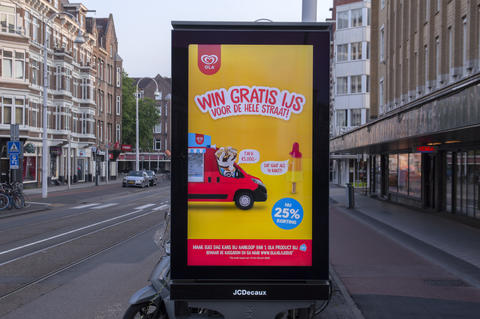 Billboard Ola Ice Cream At Amsterdam The Netherlands 17-6-2020 Fotografía
