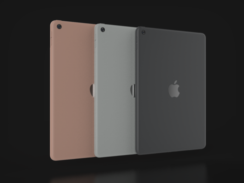 Apple IPad 7th Generation In Official Colors 3Dモデル