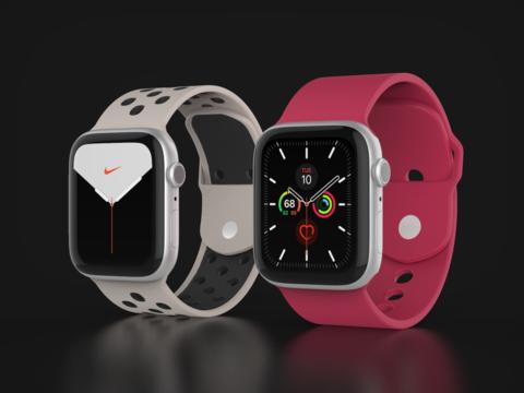 Apple Watch Series 5 44 mm regular and nike 3D Model