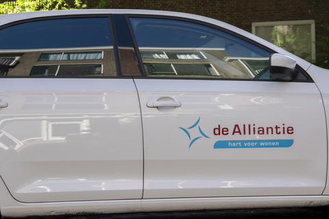 Company Van From De Alliantie At Amsterdam The Netherlands 28-5-2020 Photo