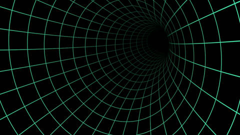 Hallow grid lines tunnel illusion Animation