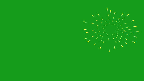 Fireworks motion graphics with green screen background Videos animados