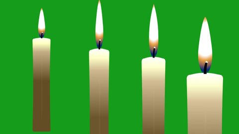 Glowing candles motion graphics with green screen background Videos animados
