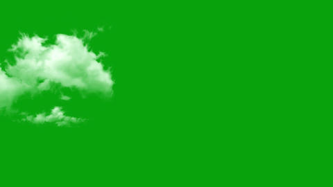 Passing clouds motion graphics with green screen background Animation