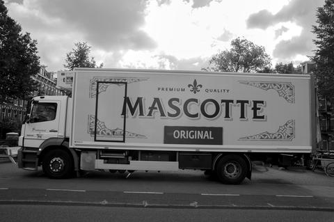 Mascotte Company Truck At Amsterdam The Netherlands 20-6-2020 フォト