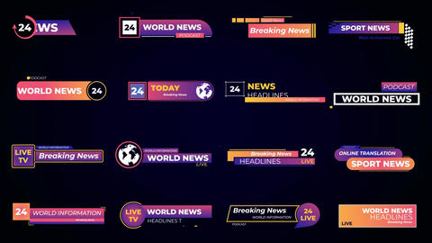 Titles Set News Plantillas de Motion Graphics