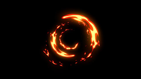 Fire energy motion graphics with night background Animation