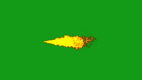 Fire stream motion graphics with green screen background Animation