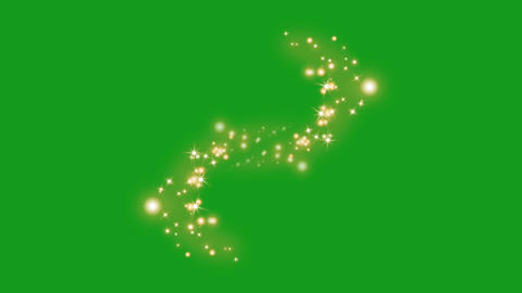 Shining star particles motion graphics with green screen background Animation